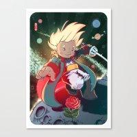 le petit prince Canvas Prints featuring Le Petit Prince by Jordan Lewerissa