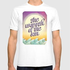The Warmth of the Sun White MEDIUM Mens Fitted Tee