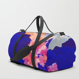 Vibrant Watercolor Mountains, Sunny, Flower Nature Abstract Art Mid-century Retro and Mindful vibes Duffle Bag