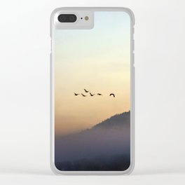 A Sunrise as Good as Gold Clear iPhone Case