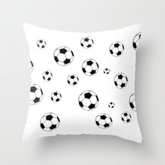 Footballs Throw Pillow