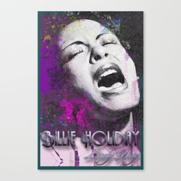 LADY DAY Canvas Print