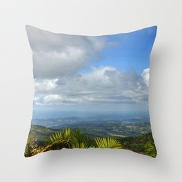 View at 3,000 feet alt. from El Yunque peak -  El Yunque rainforest PR Throw Pillow