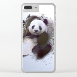 Animals and Art - Panda Clear iPhone Case