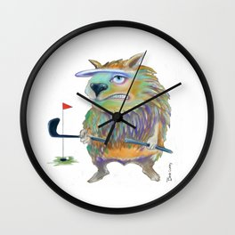 Angry Golfer Wall Clock