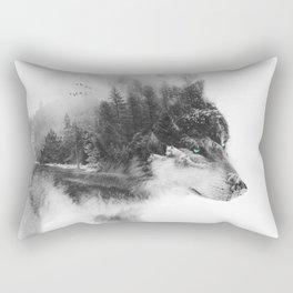 Wolf Stalking Rectangular Pillow