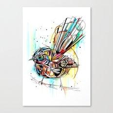 Bold Fantail Canvas Print