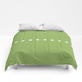 Dots Green Comforters