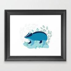 Blue Badger Framed Art Print