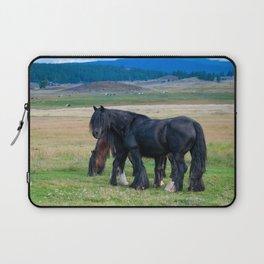 Gypsy Vanner Horses 0258 - Colorado Laptop Sleeve
