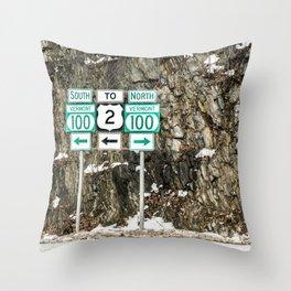 Vermont Route 100 Throw Pillow
