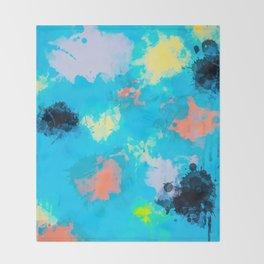 Abstract Paint splatter design Throw Blanket