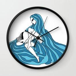 Aquarius / 12 Signs of the Zodiac Wall Clock