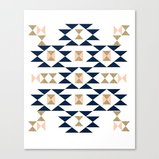 Jacs - Modern pattern design in aztec themed pattern navajo print textile cute trendy girl Canvas Print