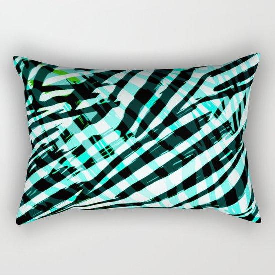 cyan confusion Rectangular Pillow