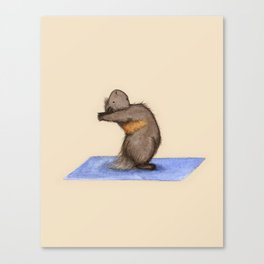 Yoguineas - Standing Back Bend Canvas Print