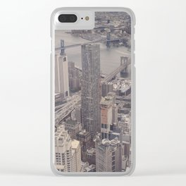 New York City from Above Clear iPhone Case