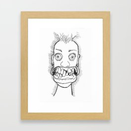 Crooked Framed Art Print