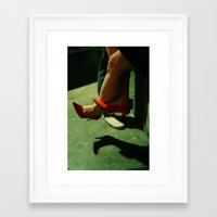 heels Framed Art Prints featuring heels by katie g. jones /// wren papers