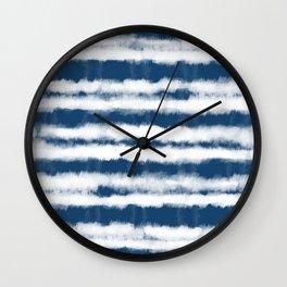 Shibori Stripes Wall Clock