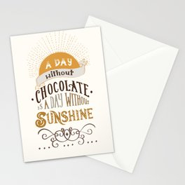 Chocolate lovers Stationery Cards