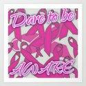 Dare To Be Aware (breast cancer version) by lilbudscorner