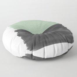 Sage Green Black Abstract Minimalism #1 #minimal #ink #decor #art #society6 Floor Pillow