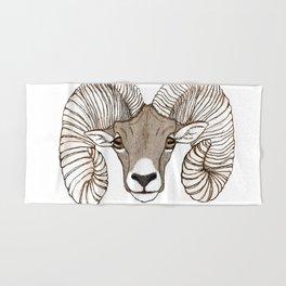 Ram Head in Color Hand & Bath Towel