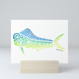 Tribal Mahi Mahi Mini Art Print
