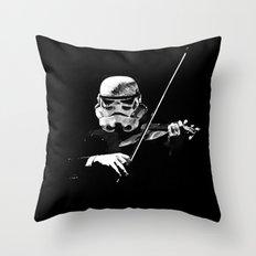 Dark Violinist Warrior Throw Pillow