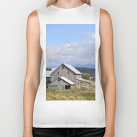 vermont Biker Tanks featuring Vermont Barn by Ashley Callan