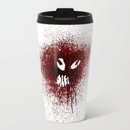 Space face Red Travel Mug