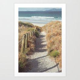 Pathway to Mangawhai Heads Beach Art Print