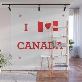 I heart Canada Wall Mural