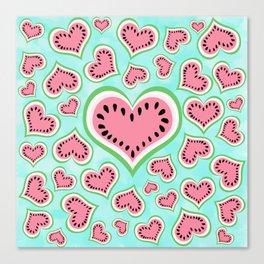 Watermelon Love... Canvas Print