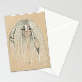Messy hair dont care Stationery Cards