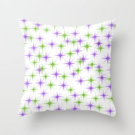 Colored Starlights Throw Pillow
