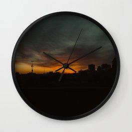 February Sunset Wall Clock