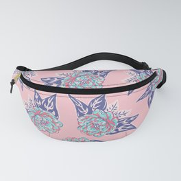 Cabbage Rose Tattoo Flash Fanny Pack