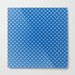 Blue Elegant Shapes Metal Print