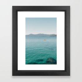 Summer Lake Day Framed Art Print