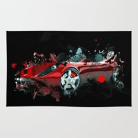 psychadelic Area & Throw Rugs featuring cars  by mark ashkenazi