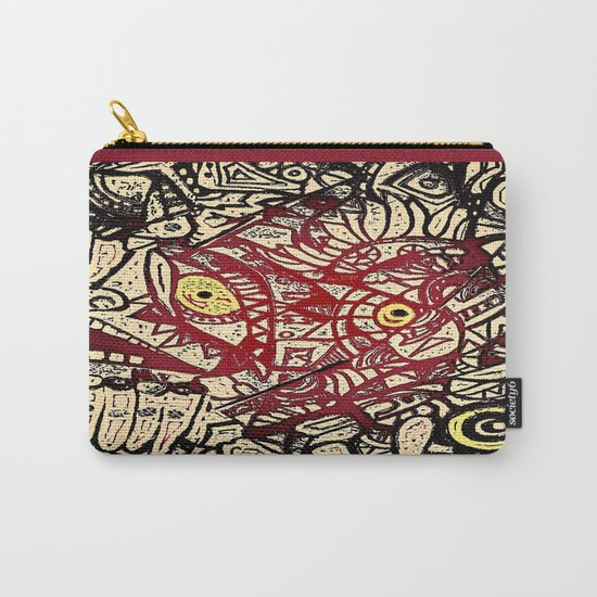 Shyly peeking from my heart, protective layers blown apart Carry-All Pouch