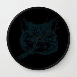CIGAR SMOKING CAT Aficionado Gift Cigar Smoker Wall Clock