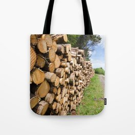 The wood stack Tote Bag