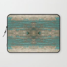 Weathered Rustic Wood - Weathered Wooden Plank - Beautiful knotty wood weathered turquoise paint Laptop Sleeve