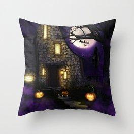 Spider Halloween Throw Pillow