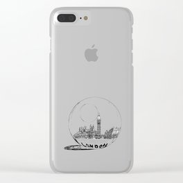 LONDON City in a Glass Ball Clear iPhone Case