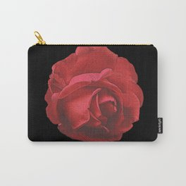 red rose, canvas, roses, flowers, rose fan, mother's day Carry-All Pouch