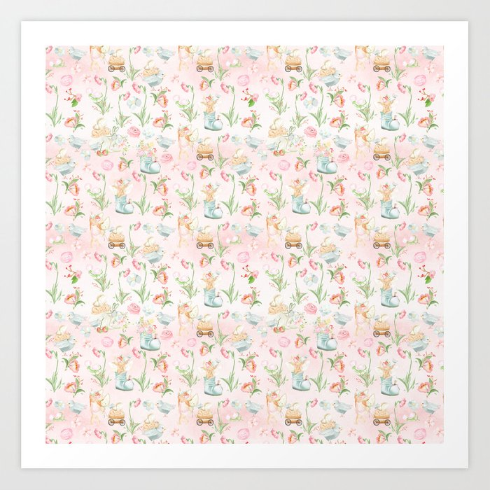 Flower Fairies Flowers and Baby Animals Kunstdrucke